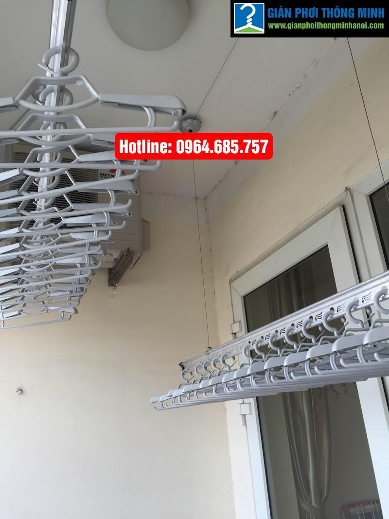 Lắp giàn phơi nhập khẩu Thái Lan nhà anh Trình P803 tòa 29 T2 Hoàng Đạo Thúy-02