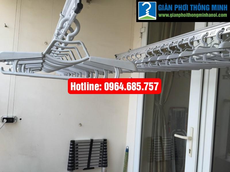 Lắp giàn phơi nhập khẩu Thái Lan nhà anh Trình P803 tòa 29 T2 Hoàng Đạo Thúy-04