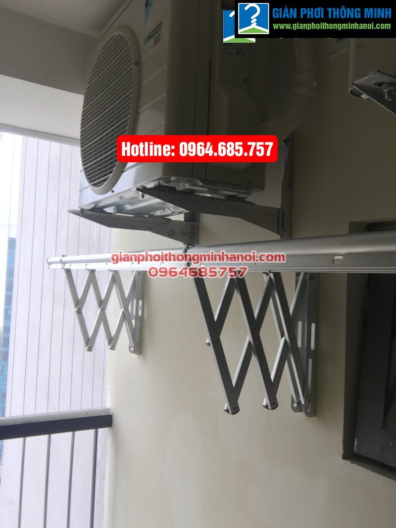 Lắp giàn phơi nhập khẩu tự động cho nhà chị Diệu p1512 tòa B chung cư 75 Tam Trinh-01