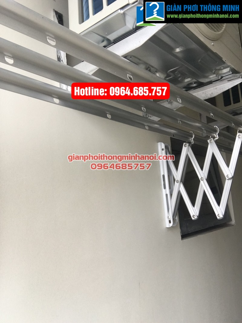 Lắp giàn phơi nhập khẩu tự động cho nhà chị Diệu p1512 tòa B chung cư 75 Tam Trinh-02