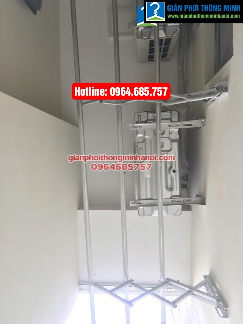 Lắp giàn phơi nhập khẩu tự động cho nhà chị Diệu p1512 tòa B chung cư 75 Tam Trinh-03