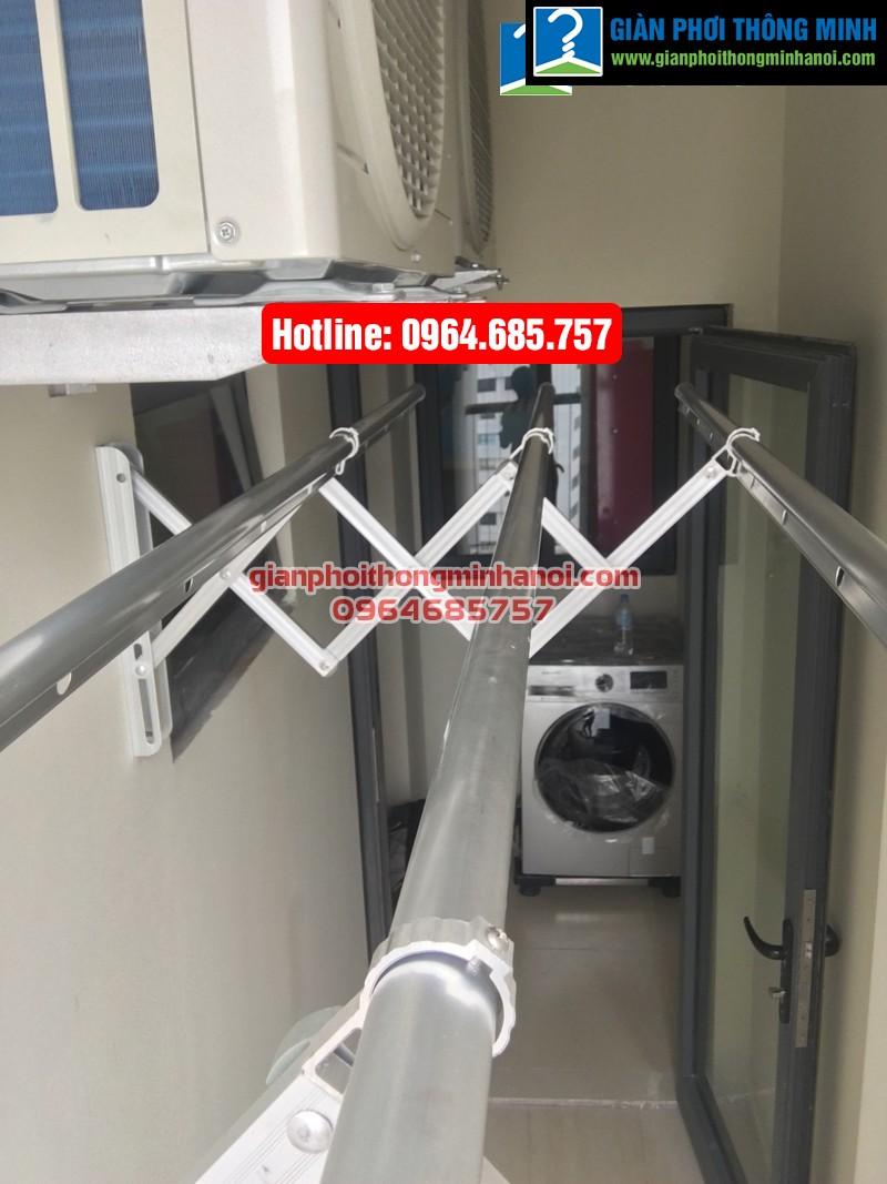 Lắp giàn phơi nhập khẩu tự động cho nhà chị Diệu p1512 tòa B chung cư 75 Tam Trinh-04