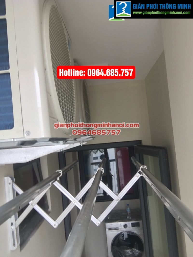 Lắp giàn phơi nhập khẩu tự động cho nhà chị Diệu p1512 tòa B chung cư 75 Tam Trinh-05