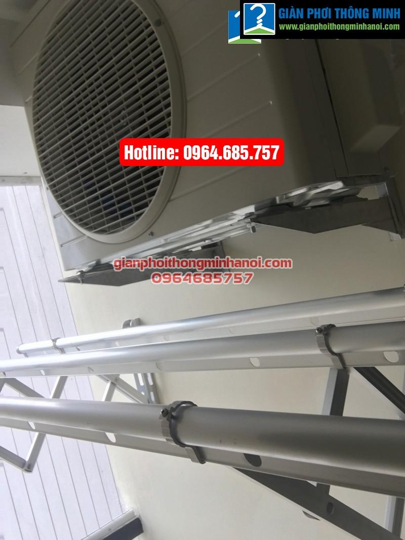 Lắp giàn phơi nhập khẩu tự động cho nhà chị Diệu p1512 tòa B chung cư 75 Tam Trinh-06
