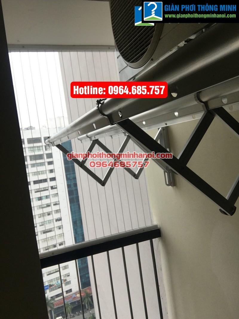 Lắp giàn phơi nhập khẩu tự động cho nhà chị Diệu p1512 tòa B chung cư 75 Tam Trinh-07