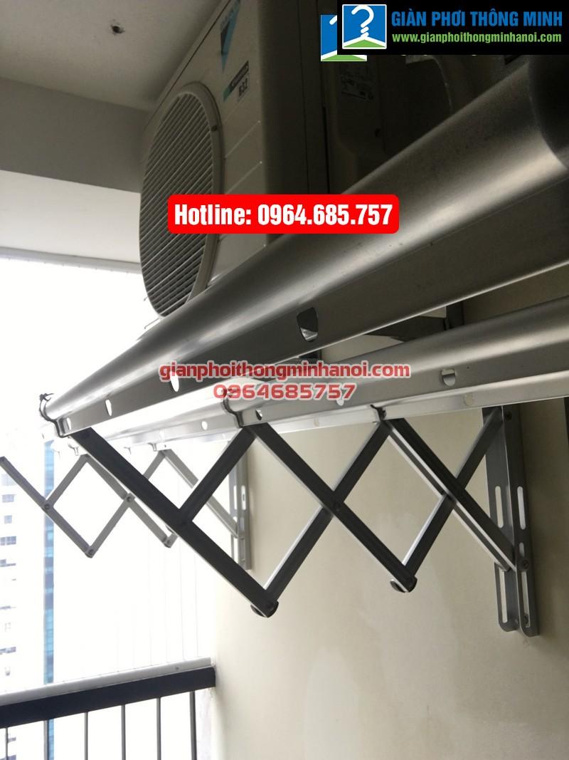 Lắp giàn phơi nhập khẩu tự động cho nhà chị Diệu p1512 tòa B chung cư 75 Tam Trinh-08