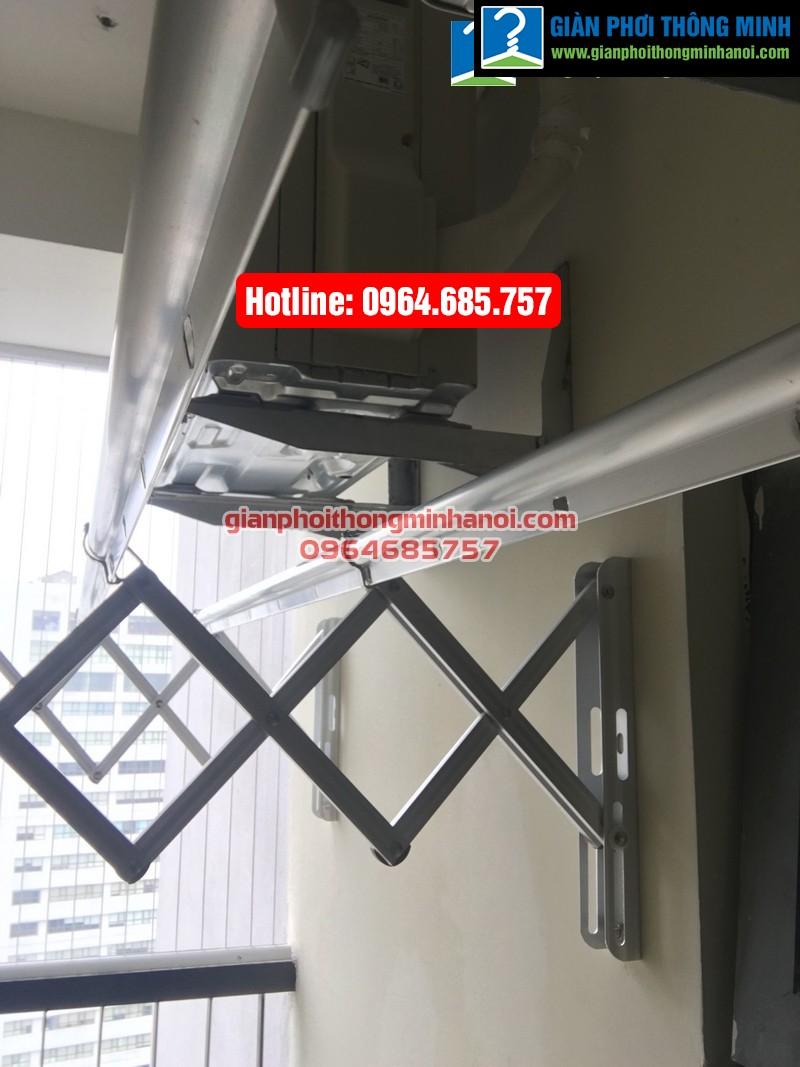 Lắp giàn phơi nhập khẩu tự động cho nhà chị Diệu p1512 tòa B chung cư 75 Tam Trinh-09