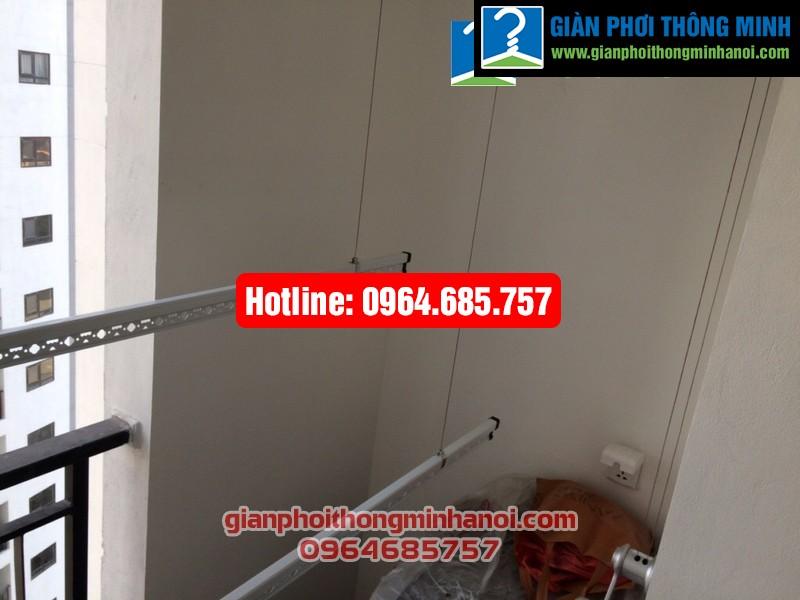 Lắp giàn phơi thông minh Hòa Phát Star cho nhà chị Hường chung cư Hateco Hoàng Mai-07