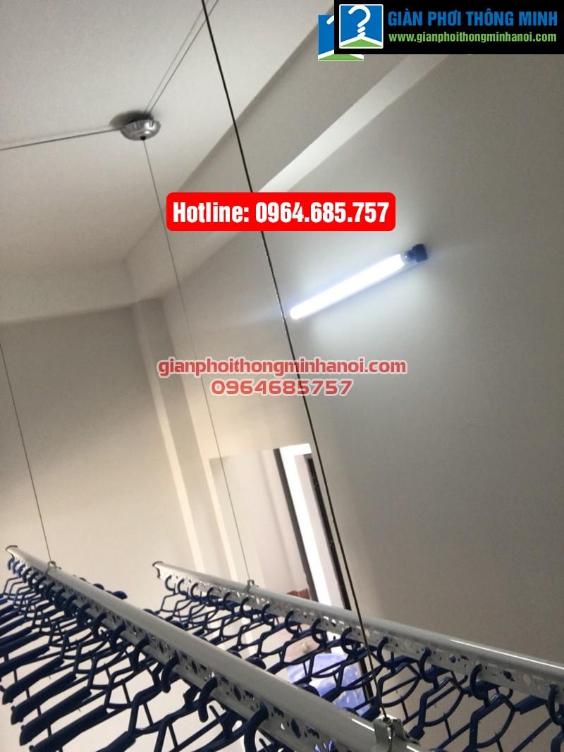 Lắp giàn phơi thông minh nhập khẩu cho nhà chị Hà phường Yên Nghĩa, quận Hà Đông-01