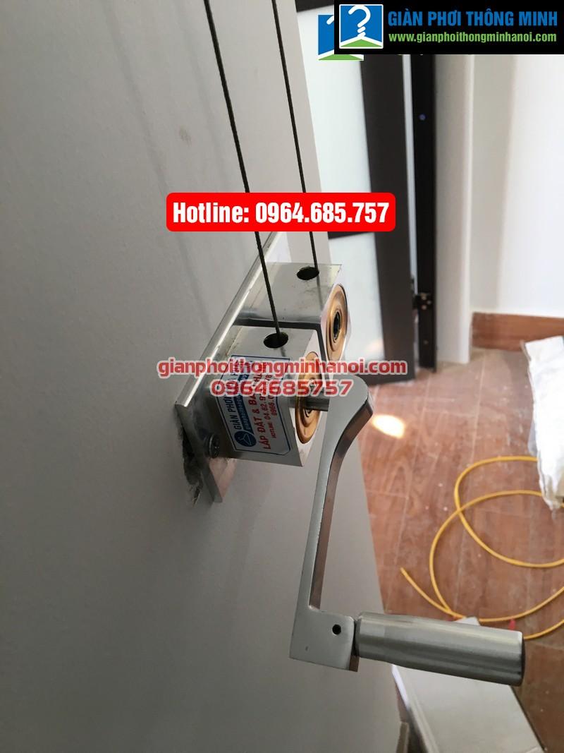 Lắp giàn phơi thông minh nhập khẩu cho nhà chị Hà phường Yên Nghĩa, quận Hà Đông-08