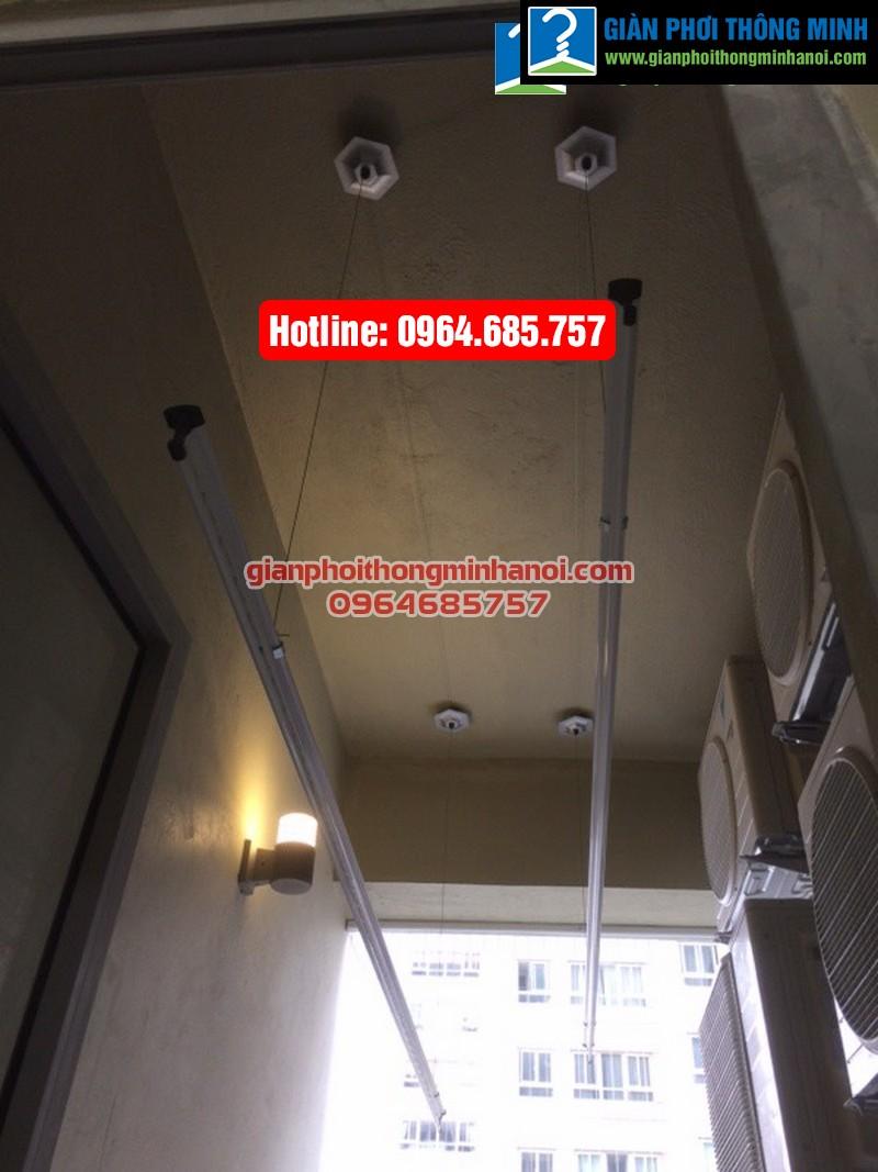 Lắp giàn phơi thông minh Hòa Phát Air cho nhà anh Tài chung cư Thăng Long No 1-05