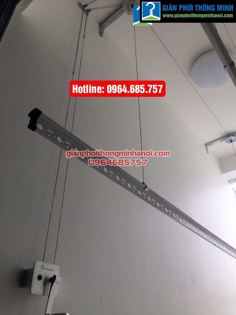 Lắp giàn phơi thông minh nhập khẩu Sankaku cho nhà chị Liên chung cư 355 Cầu Giấy-04