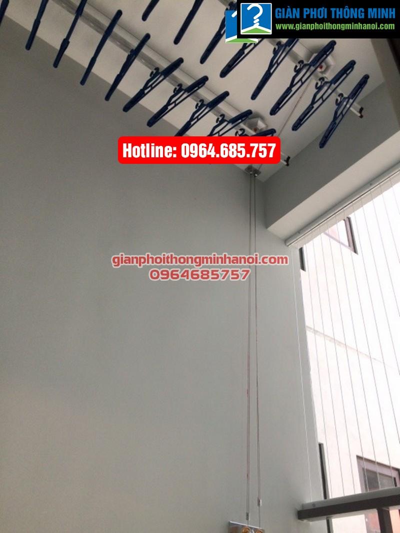 Lắp giàn phơi thông minh Hàn Quốc cho nhà chị Hảo chung cư Thăng Long Number One-02