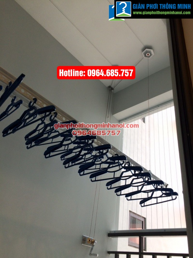 Lắp giàn phơi thông minh Hàn Quốc cho nhà chị Hảo chung cư Thăng Long Number One-07
