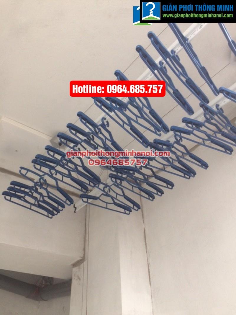 Lắp giàn phơi nhập khẩu Singapore cho nhà chị Diệu phố Chính Kinh quận Thanh Xuân-01