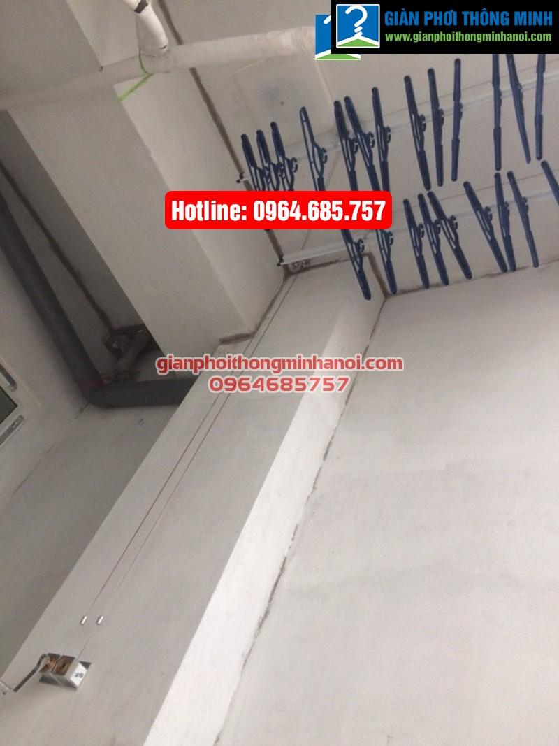 Lắp giàn phơi nhập khẩu Singapore cho nhà chị Diệu phố Chính Kinh quận Thanh Xuân-02