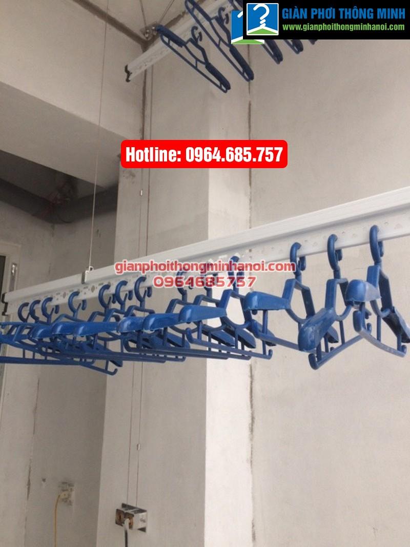 Lắp giàn phơi nhập khẩu Singapore cho nhà chị Diệu phố Chính Kinh quận Thanh Xuân-04