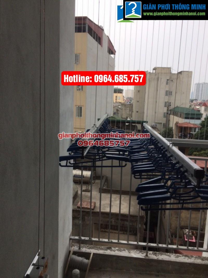 Lắp giàn phơi nhập khẩu Singapore cho nhà chị Diệu phố Chính Kinh quận Thanh Xuân-05