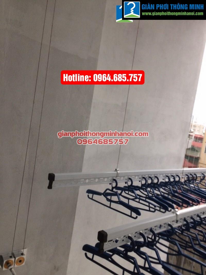 Lắp giàn phơi nhập khẩu Singapore cho nhà chị Diệu phố Chính Kinh quận Thanh Xuân-06