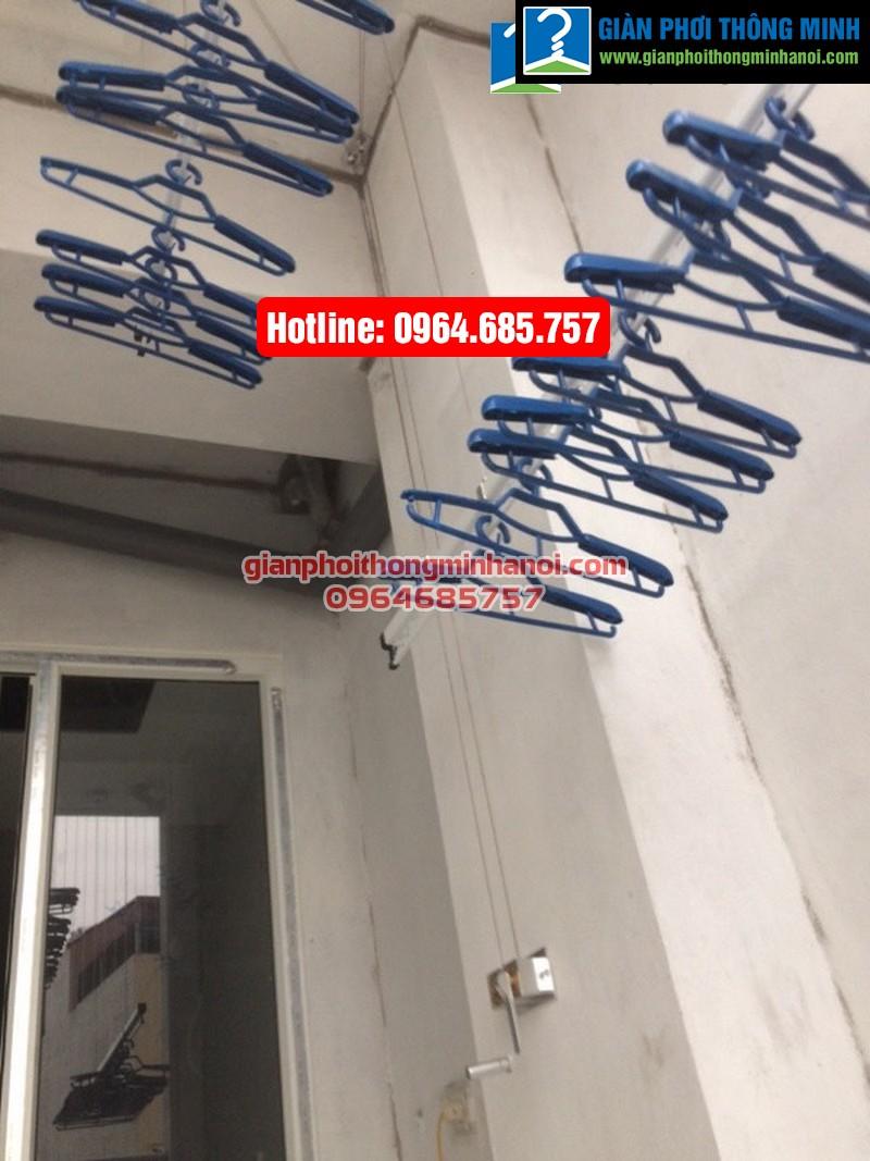 Lắp giàn phơi nhập khẩu Singapore cho nhà chị Diệu phố Chính Kinh quận Thanh Xuân-07