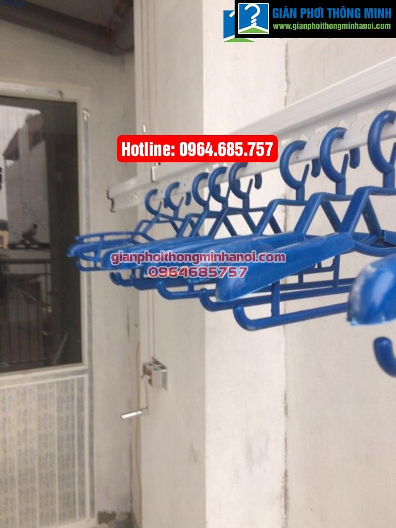 Lắp giàn phơi nhập khẩu Singapore cho nhà chị Diệu phố Chính Kinh quận Thanh Xuân-08