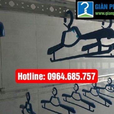 Lắp giàn phơi thông minh nhập khẩu nhà anh Bảo phòng 3734 tòa CT 12B Kim Văn Kim Lũ