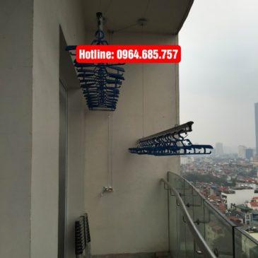 Lắp giàn phơi nhập khẩu Singapore nhà chị Vân phòng E1510 tòa Golden Westlake Hanoi