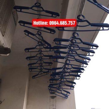 Lắp giàn phơi nhập khẩu tự động nhà chị Bình phòng 603 tòa C6 Mỹ Đình 1, Hà Nội