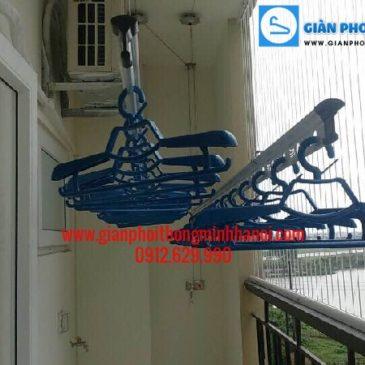 Lắp giàn phơi đồ thông minh nhà chị Thuận P606 tòa HH2 B Ngọc Thụy