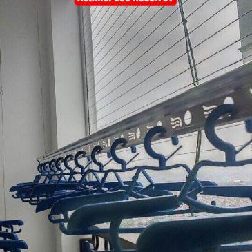 Lắp giàn phơi nhà anh Tân phòng 2803 tòa T8 Times City, Hà Nội