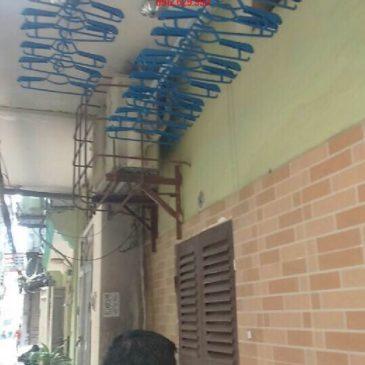 Lắp giàn phơi nhập khẩu Thái Lan nhà anh Trình số 1 ngõ 132 Khương Trung, Hà Nội