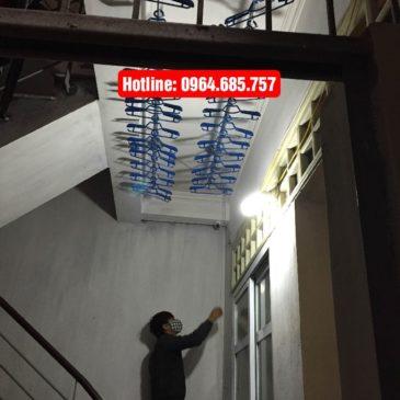 Lắp giàn phơi thông minh Hoà Phát AIR nhà chị Minh số 20 ngách 71 ngõ Gốc Đề, Phố Minh Khai, Hà Nội