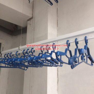 Lắp giàn phơi nhập khẩu Singapore cho nhà chị Diệu phố Chính Kinh, quận Thanh Xuân