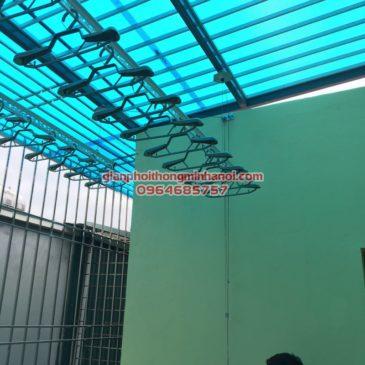 Lắp giàn phơi thông minh Hàn Quốc cho nhà chị Mai, LK 6D khu đô thị Mỗ Lao