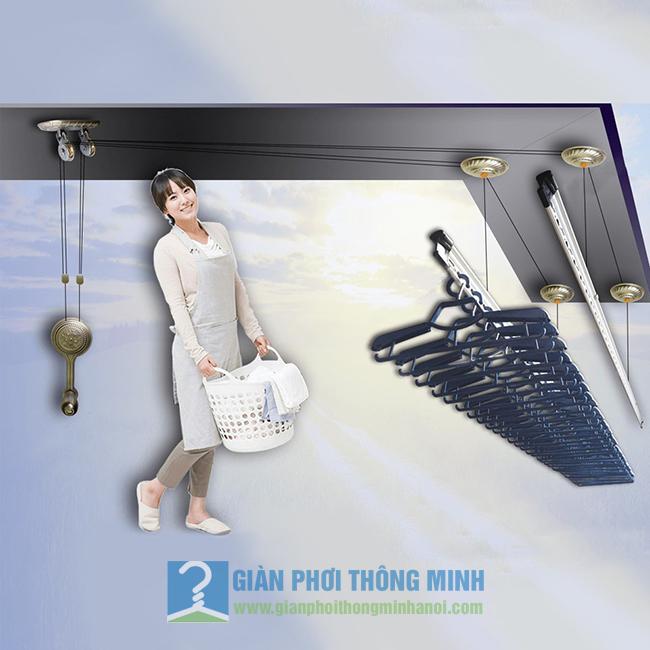 Giàn phơi thông minh Hà Nội GP950 chi tiết
