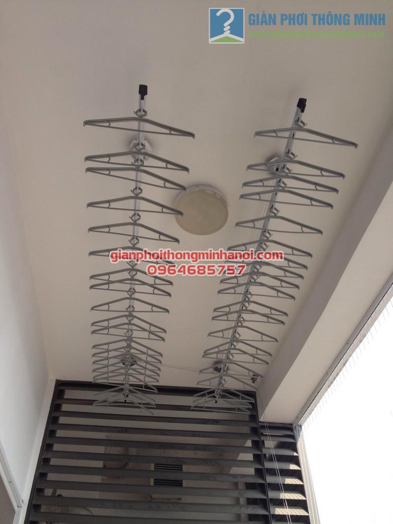 Giàn phơi nhập khẩu Singapore  nhà anh Hậu tháp IPH Xuân Thủy, Cầu Giấy 01