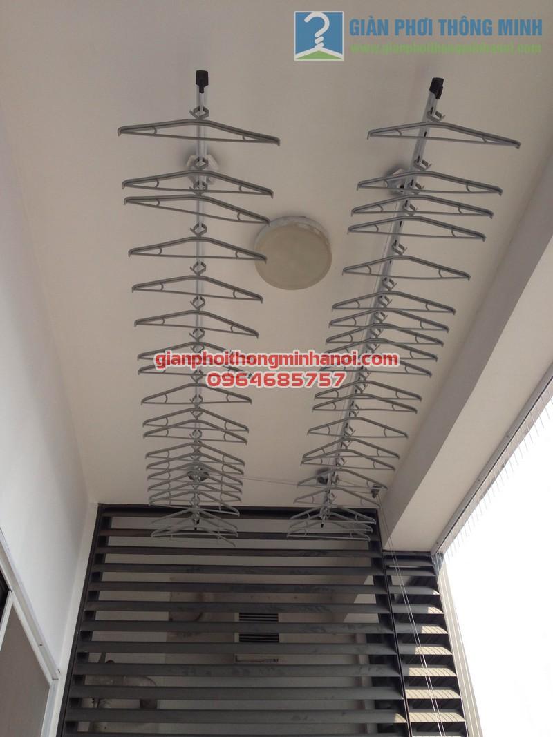 Giàn phơi nhập khẩu Singapore nhà anh Hậu tháp IPH Xuân Thủy, Cầu Giấy 02