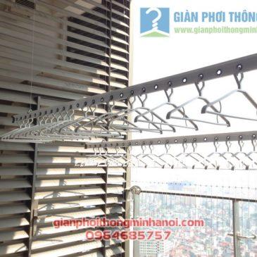 Giàn phơi nhập khẩu Singapore nhà anh Hậu tháp IPH Xuân Thủy, Cầu Giấy