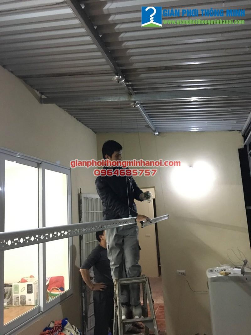 Hoàn thiện lắp đặt giàn phơi thông minh cho nhà chị Hòa 30/97 Triều Khúc, Thanh Xuân
