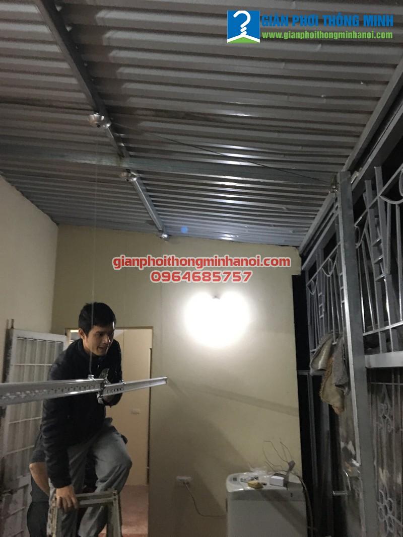Hoàn thiện lắp đặt giàn phơi thông minh Duy Lợi cho nhà chị Hòa 30/97 Triều Khúc, Thanh Xuân