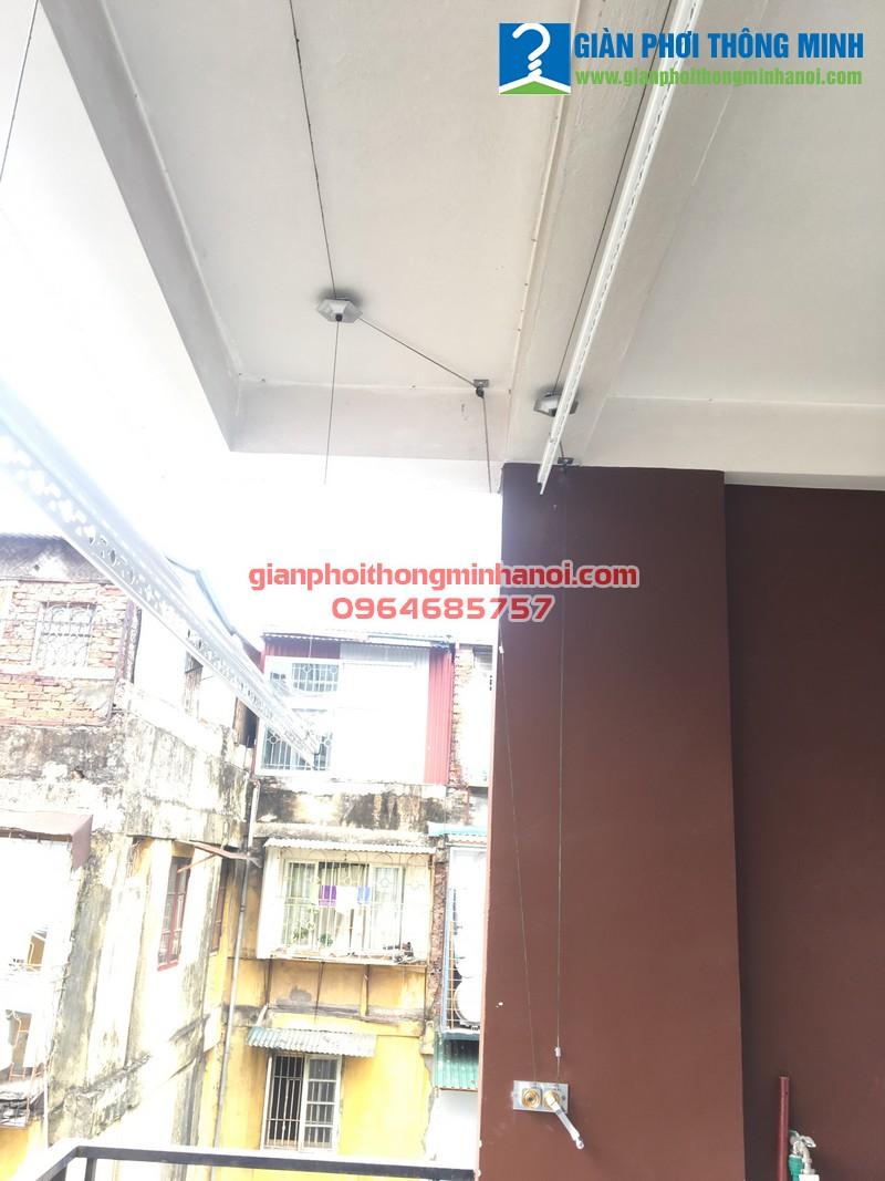 Hoàn thiện lắp đặt giàn phơi thông minh cho nhà chị Thanh ngõ 22 Tạ Quang Bửu