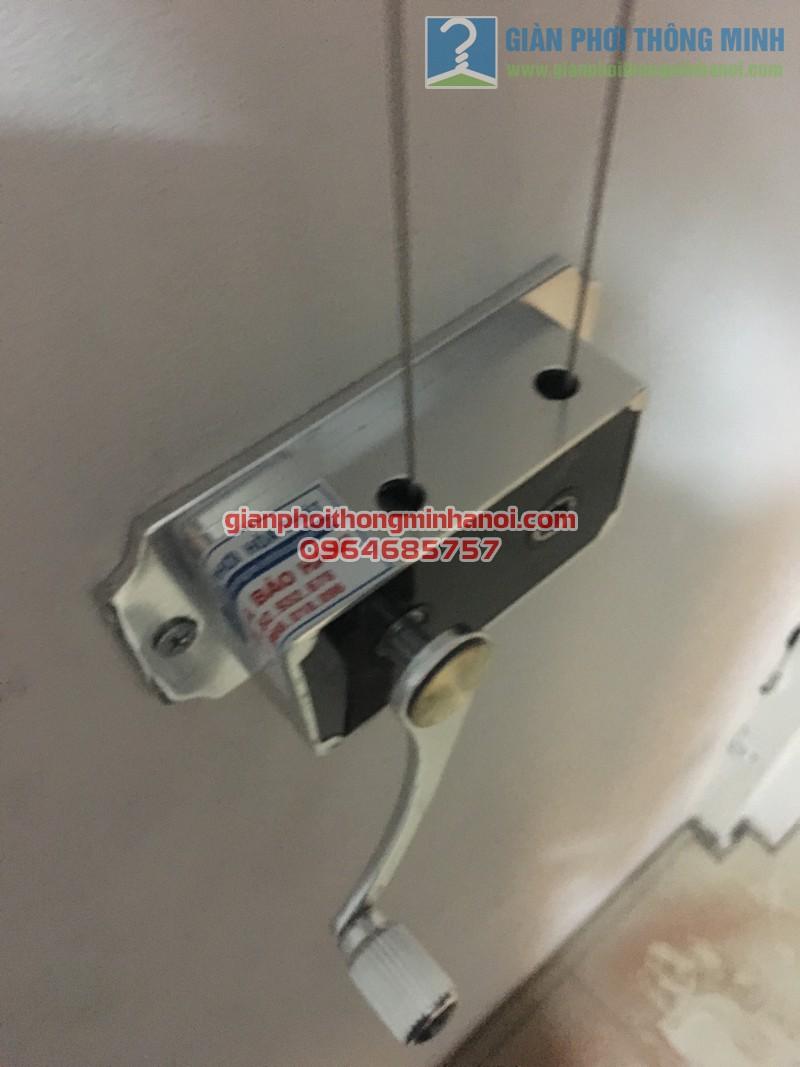 Lắp đặt bộ giàn phơi nhập khẩu Singapore GP888B nhà anh Quỳnh, ngõ 62, Ngọc Hà - 01