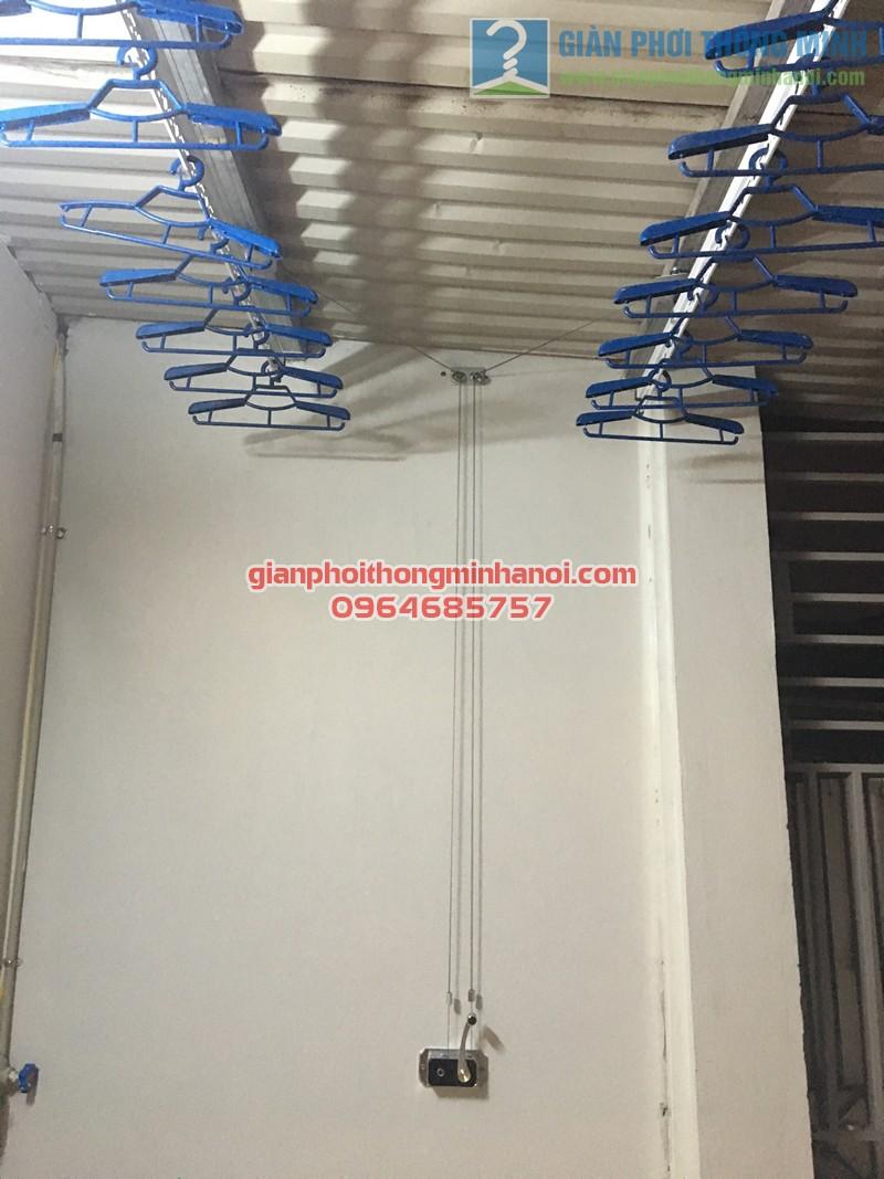 Lắp đặt bộ giàn phơi nhập khẩu Singapore GP888B nhà anh Quỳnh, ngõ 62, Ngọc Hà - 02