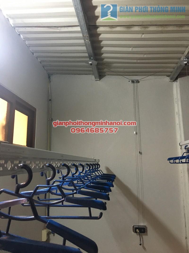 Lắp đặt bộ giàn phơi nhập khẩu Singapore GP888B nhà anh Quỳnh, ngõ 62, Ngọc Hà - 03