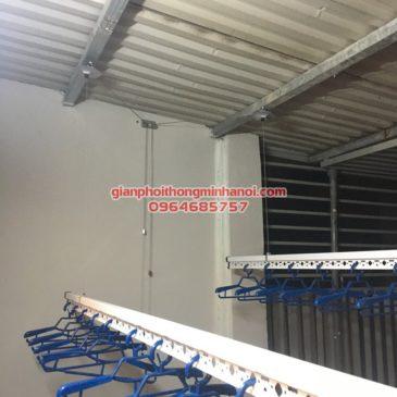 Lắp đặt bộ giàn phơi nhập khẩu Singapore GP888B nhà anh Quỳnh, ngõ 62, Ngọc Hà