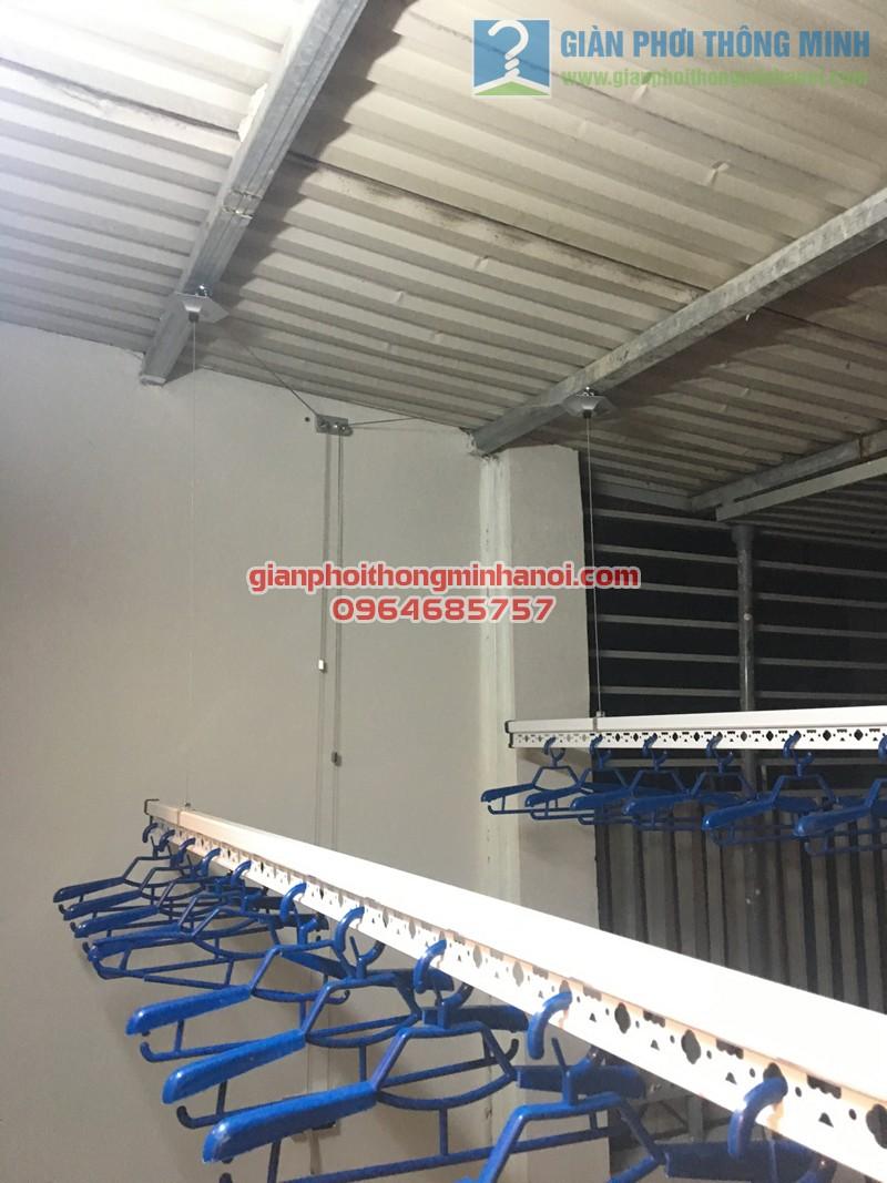 Lắp đặt bộ giàn phơi thông minh Hà Nội GP888B nhà anh Quỳnh, ngõ 62, Ngọc Hà