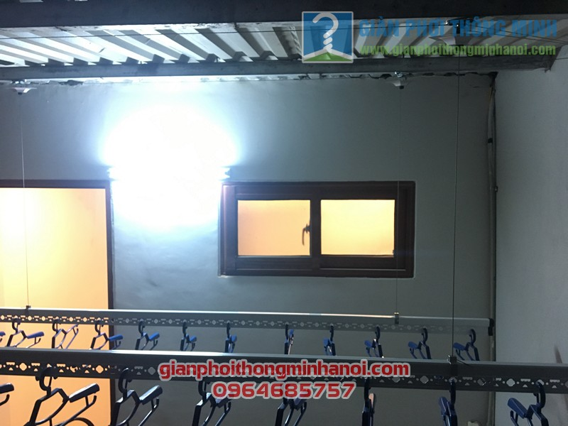 Lắp đặt bộ giàn phơi nhập khẩu Singapore GP888B nhà anh Quỳnh, ngõ 62, Ngọc Hà - 06