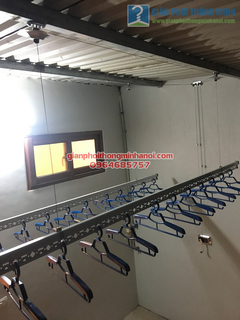 Lắp đặt bộ giàn phơi nhập khẩu Singapore GP888B nhà anh Quỳnh, ngõ 62, Ngọc Hà - 04