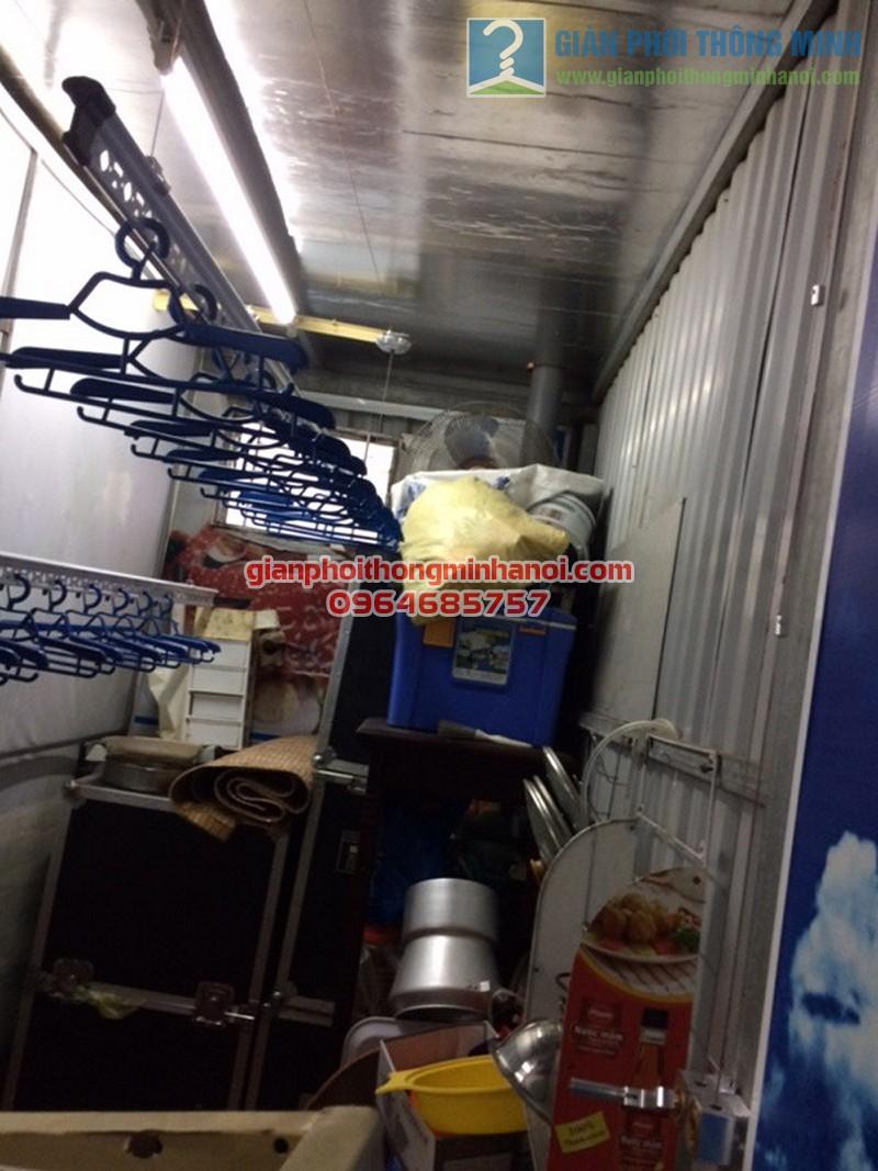 Lắp đặt hoàn thiện giàn phơi thông minh Ba Sao nhà cô Mai, ngõ 67 Nguyễn Khang - 03