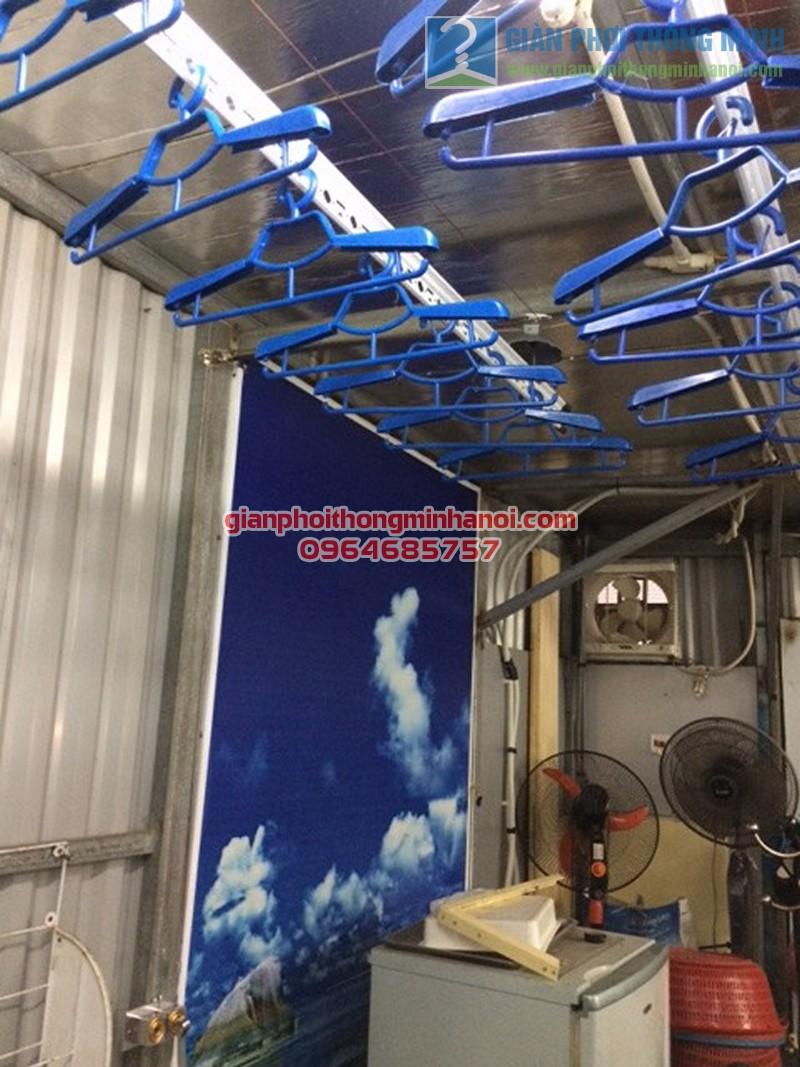 Lắp đặt hoàn thiện giàn phơi thông minh Ba Sao nhà cô Mai, ngõ 67 Nguyễn Khang - 01